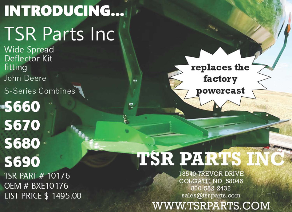 TSR Parts Inc Wide Spread Deflector Kit for John Deere - replaces the factory powercast